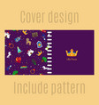 cover design with princess pattern vector image vector image