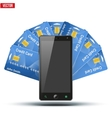 Credit Card And Cell Phone vector image