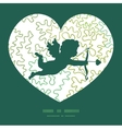curly doodle shapes shooting cupid vector image