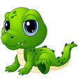 cute baby crocodile cartoon vector image vector image