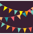 cute festive colorful flags on vector image
