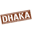 dhaka brown square stamp vector image vector image