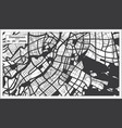 dongguan china city map in black and white color vector image vector image