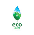 eco house sign on white vector image vector image