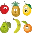 Emotion fruits set vector image vector image