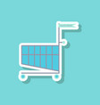 fashion patch sale sticker shopping cart black vector image