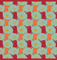 funny hand-drawn seamless pattern with elephants vector image vector image