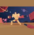 future combat robots cyber war futuristic vector image vector image