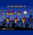 game count the cat witch pumpkin in the halloween vector image