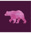 Grizzly Bear polygons red trend style design vector image vector image