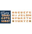 handmade christmas gingerbread cookies alphabet vector image