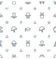 hat icons pattern seamless white background vector image vector image