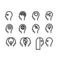 head icon set vector image vector image