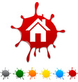 Home blot vector image vector image