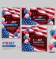 independence day holiday celebration banners vector image