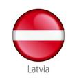 latvia round button flag vector image vector image