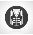 Life vest black round icon vector image