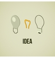 Light layered bulb idea concept template vector image
