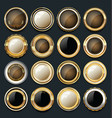 luxury golden design elements collection 10 vector image vector image