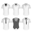 mens short sleeve formal vector image vector image