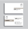 minimal business card print template design brown vector image vector image