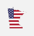 minnesota map on american flag