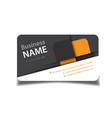 modern business card square design image vector image