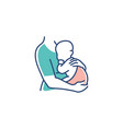 mom and baby logo maternal woman holding vector image vector image