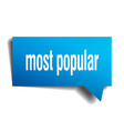 most popular blue 3d speech bubble vector image vector image
