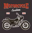 motorcycle on dark background t-shirt print vector image vector image