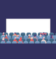 people in cinema movie theatre male and female vector image