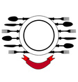 Plate with cutlery design place setting vector image