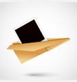 polaroid paper plane vector image