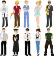 professional workers collage vector image