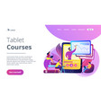 recorded classes concept landing page vector image vector image