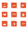 redeploy icons set grunge style vector image vector image