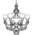 rich baroque classic chandelier luxury decor vector image vector image