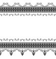 seamles border pattern elements with flowers and vector image vector image