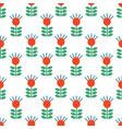 seamless folk art pattern background with vector image vector image