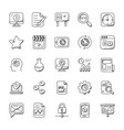 Seo and marketing doodle icons set