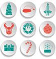 Set of New Year and Christmas icons Flat design vector image vector image