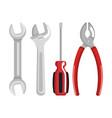 set tools elements work labor day symbol vector image