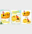 summer sport posters set - cricket tennis vector image
