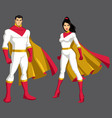 superhero couple asian isolated vector image