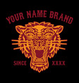 tattoo tiger head logo for clothing vector image
