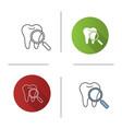 teeth medical check icon vector image vector image