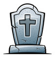 tombstone on white background vector image