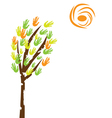 tree with hands vector image vector image