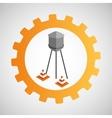 under construction gear water tank cone vector image vector image