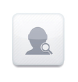 white search friend icon Eps10 Easy to edit vector image vector image